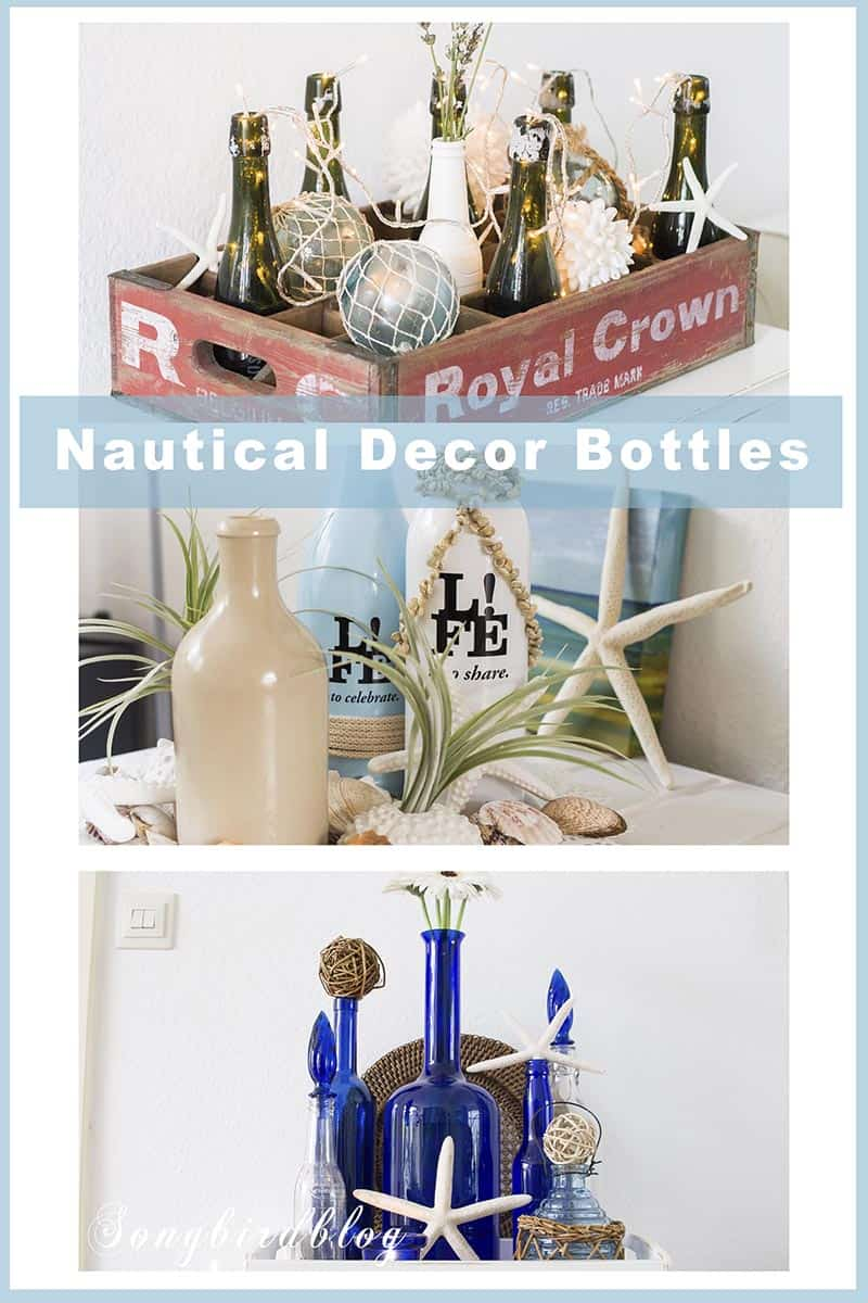 Nautical home decor ideas using bottles