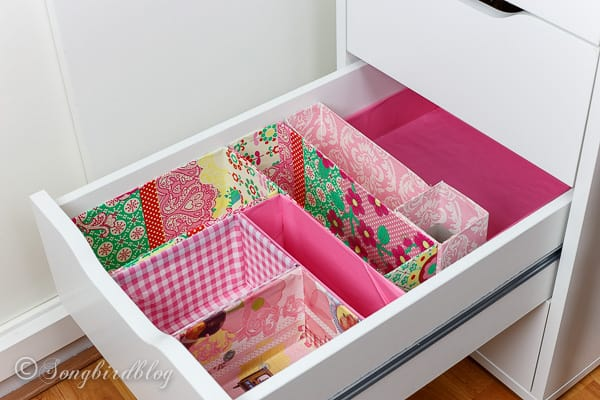 Office Drawer Organizing. A DIY Project Using Old Boxes. Free, Easy And So