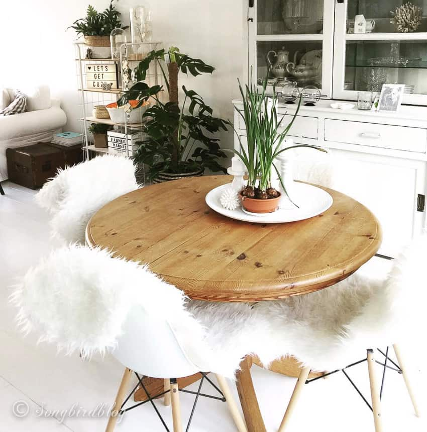 How To Paint Pine Furniture Pine Table Makeover Songbird
