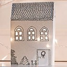 paper house Christmas mantel thumb S