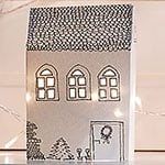 Paper Houses Christmas Mantel