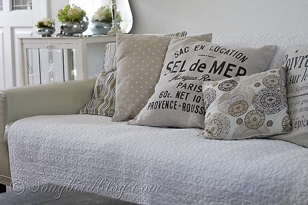 pillows plaid couch 3