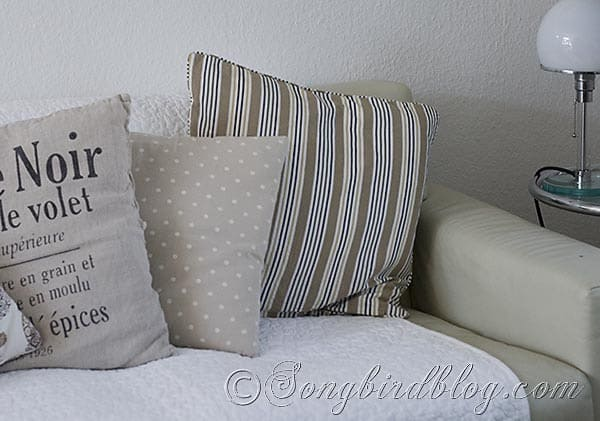 pillows plaid couch 4