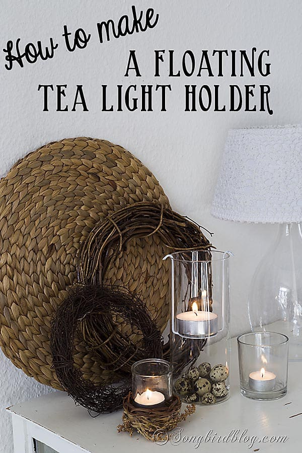 How To Make A Floating Tea Light Holder Songbird