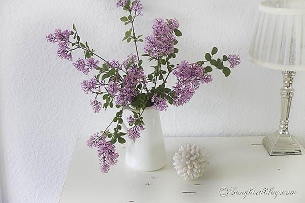pink mini lilac bouquet via Songbirdblog