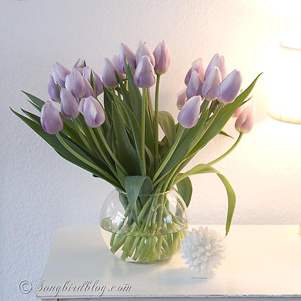 pink tulips bouquet  www.songbirdblog.com