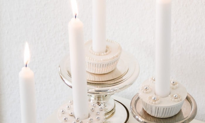 plaster cupcake candle holders-6