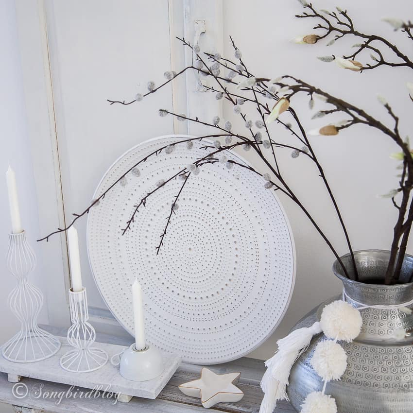 white home decor accesories