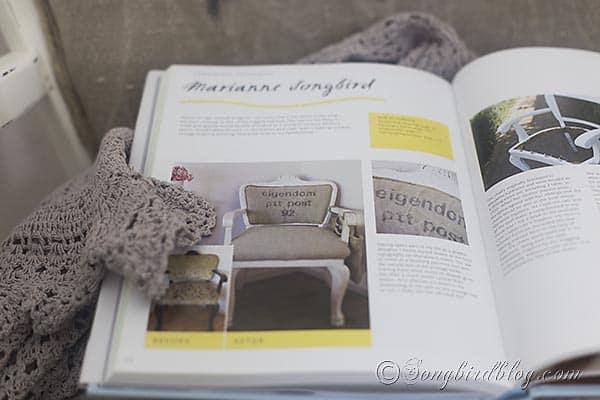 post bag chair upholstery via Songbirdblog