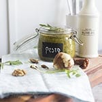 rucola pesto recipe via Songbirdblog