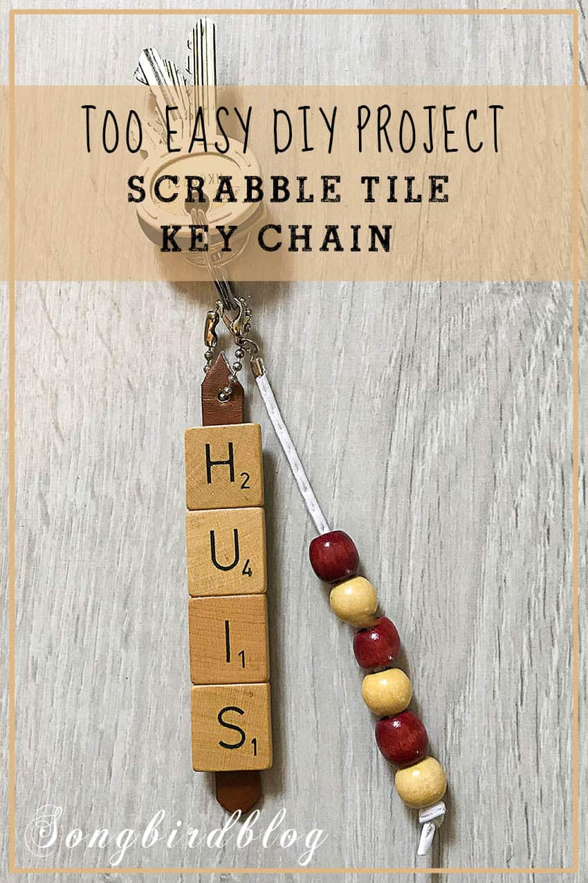 scrabble tile key chain craft project