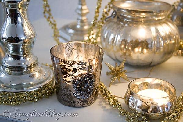 mercury silver Christmas display