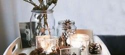 easy Christmas decorating candle lights display (5)