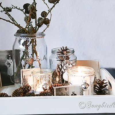 easy Christmas decorating candle lights display (5)