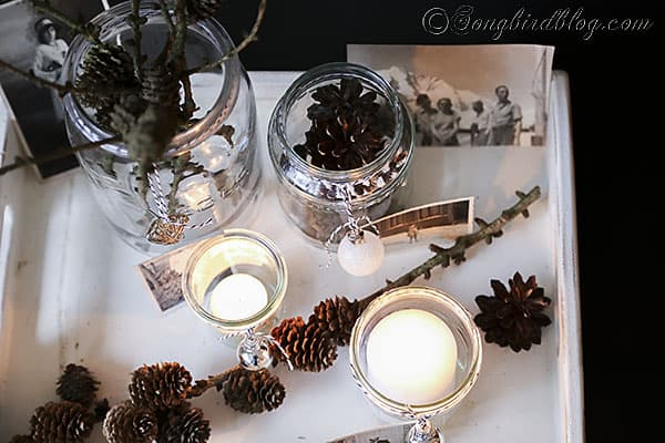 easy Christmas decorating candle lights display (4)