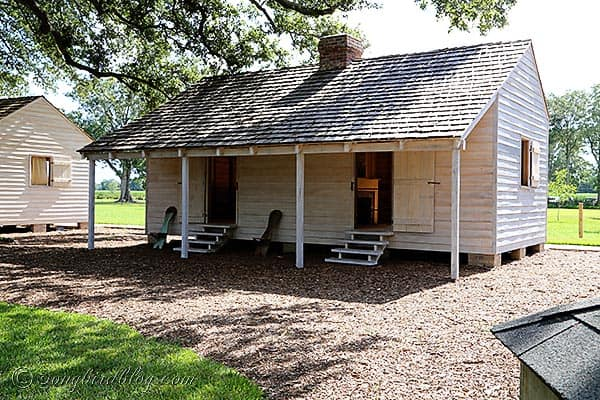 slave cabins Oak Alley plantation Baton Rouge