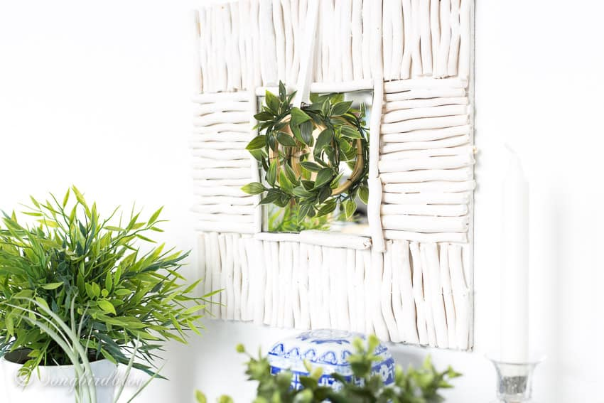 how to make a driftwood mirror