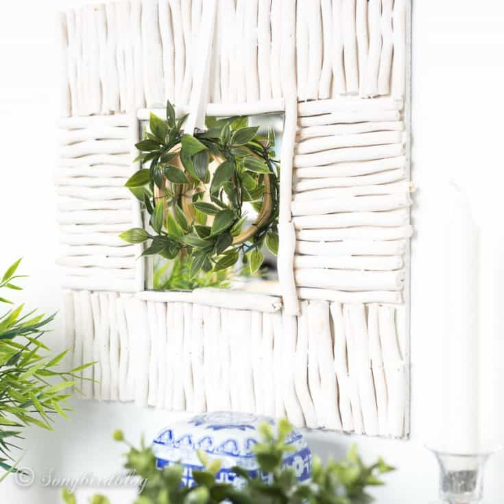 Step by step tutorial on how to make your own driftwood mirror