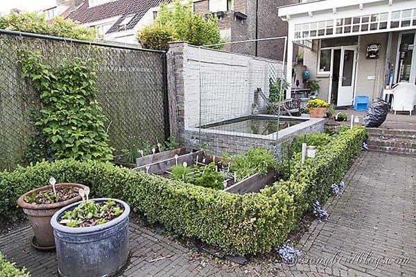 square food garden trellice via Songbirdblog