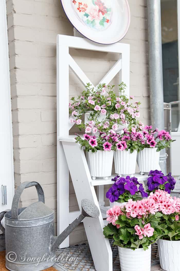 step ladder flower stand-12