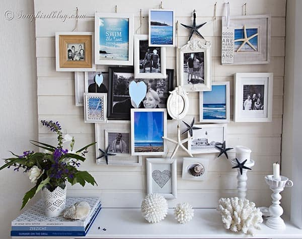 summer beach mantel decoration photo frames 1