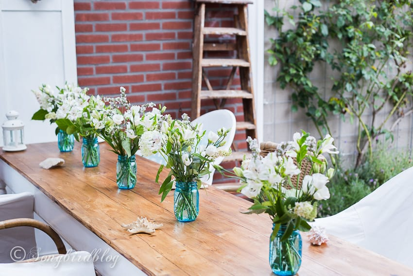 Pin or share this image of this easy summer beach table decor