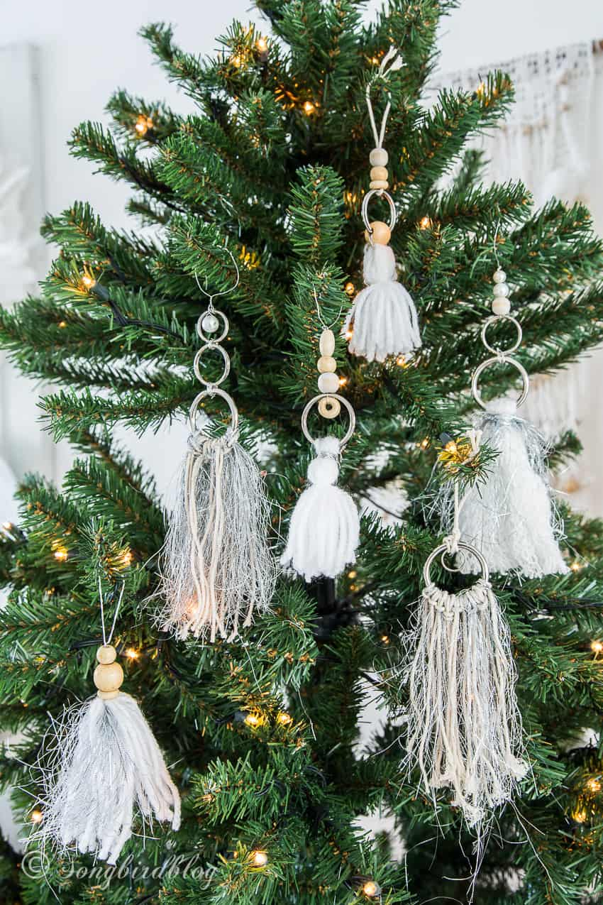A Bohemian Christmas Tree Let S Do A Tassel Boho Ornaments Diy Songbird