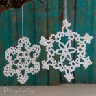 tatted Christmas ornaments stars thumb
