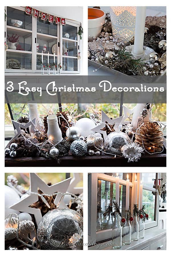 three easy Christmas decorations anyone can do. http://www.songbirdblog.com