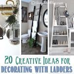 20 Creative Ideas for Decorating with Ladders