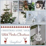 Christmas Home Tour: a white, Nordic Christmas house