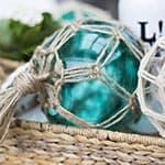 Glass Fishing Buoys DIY {Pottery Barn Knockoff}