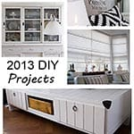 Top DIY projects of 2013 {a year in review}