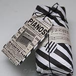 Gift Wrapping in Black & White ~ with a little vintage touch