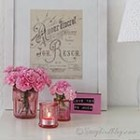 thumb colored glass jars Valentines decoration 4