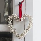 thumb homemade Christmas ornament jingle bells pearls heart