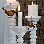 Lamp Makeover: How to make a Wooden Candle Stick from a Lamp Stand
