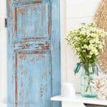 Door makeover with Frech enemal milk paint