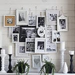 Layered Photo Frame Mantel Decoration