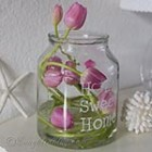 thumb pink tulips nested in round vase 3