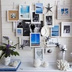 thumb summer mantel decoration photo frames beach