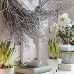 Spring Mantel Idea ~ Combo of Two Wreaths