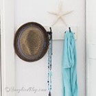 thumb wall hooks summer decoration scarf and hat