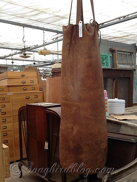 vintage punching bag