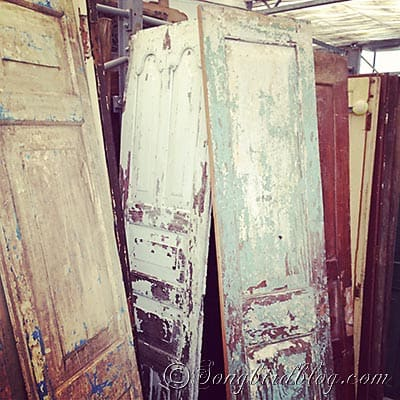 vintage chippy doors
