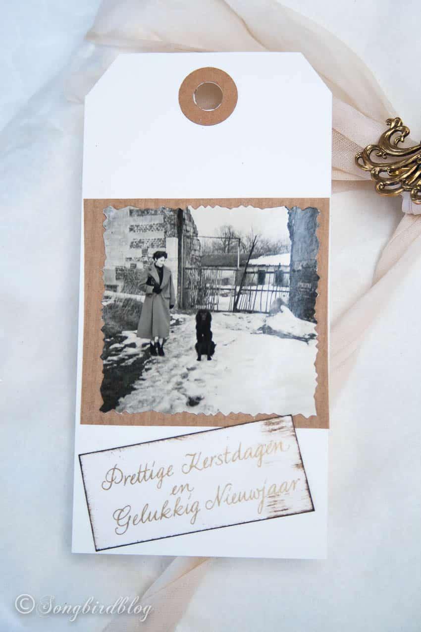 Vintage Christmas gift tag DIY idea