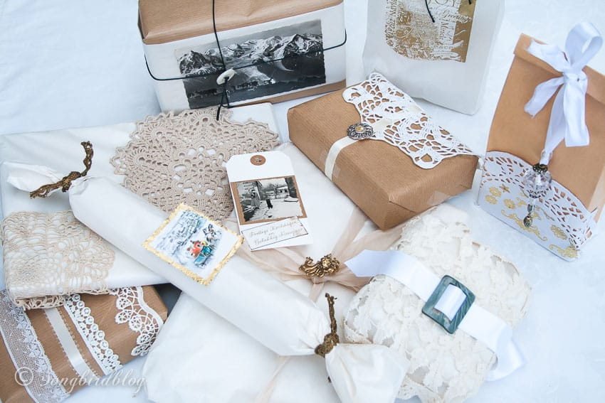 Christmas gift wrapping ideas for vintage lovers