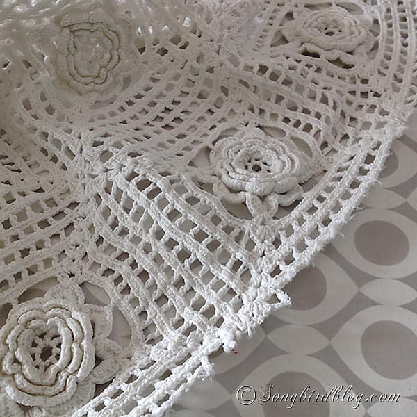 vintage crochet bed spread