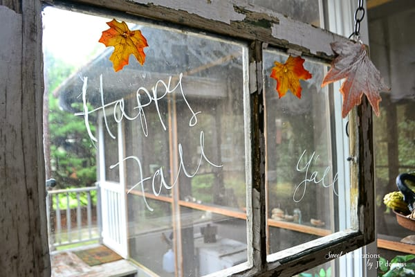 vintage double paned window Fall
