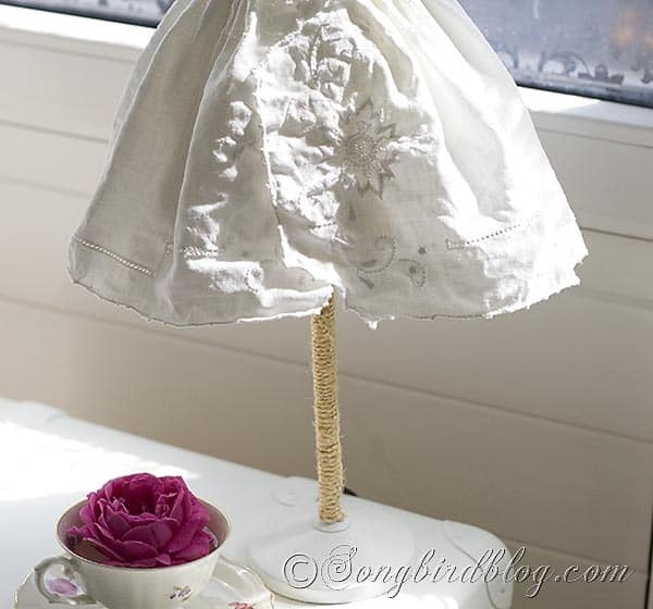 vintage fabric lamp shade 3